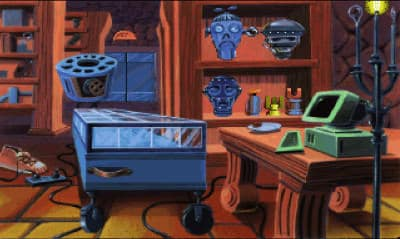 The robotics room in The Castle of Dr. Brain, by Sierra On-Line Inc.